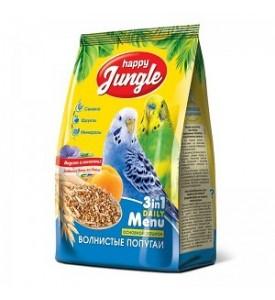 Happy Jungle  корм для волнистых попугаев 500 гр