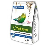 Любимчик корм для волнистых попугаев с минералами 500 гр.