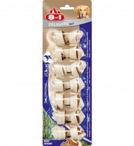 8in1 DELIGHTS Beef XS косточки с говядиной для мелких собак 7,5 см
