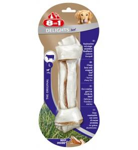 8in1 DELIGHTS Beef L косточка с говядиной для крупных собак 21 см
