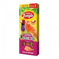 Happy Jungle Колба для мелких птиц Мёд и Овощи (3 палочки) 90 г