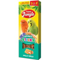 Колба Happy Jungle д/птиц Мёд и Ягоды (3 палочки) 90 г