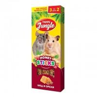 Happy Jungle колба для мелких грызунов мёд и орехи (3 палочки) 90 гр