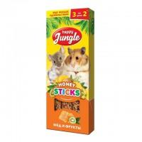 Happy Jungle Колба для мелких грызунов Мёд и Фрукты (3 палочки) 90 гр
