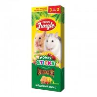 Happy Jungle колба для мелких грызунов Мёдовый Микс (3 палочки) 90 гр
