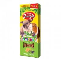 Колба Happy Jungle для крупных грызунов Мёд и Травы (3 палочки) 90 гр