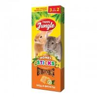 Happy Jungle Колба для крупных грызунов Мёд и Фрукты (3 палочки) 90 гр