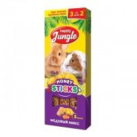 Happy Jungle Колба для крупных грызунов Мёдовый Микс (3 палочки) 90 гр