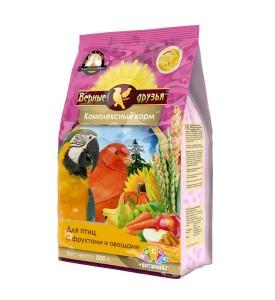 Верные Друзья  корм для птиц с фруктами и овощами 500 гр