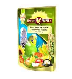 Верные Друзья Премиум  корм для волнистых попугаев с минералами 500 гр