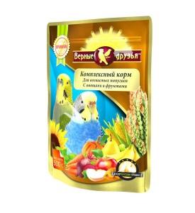 Верные Друзья Премиум  корм для волнистых попугаев с овощами и фруктами 500 гр