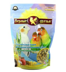 Верные Друзья Премиум  корм для корелл и неразлучников с овощами и фруктами 300 гр