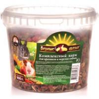 Верные Друзья корм для грызунов, кроликов и морских свинок 900 гр (ведро)