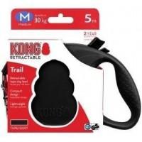 KONG рулетка Trail M (до 30 кг) лента 5 метров черная