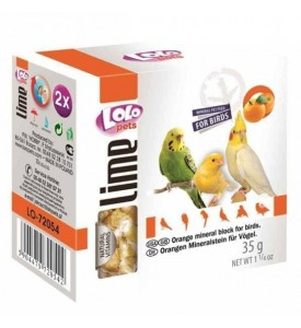 Lolo мел для птиц с апельсином 35г
