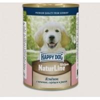 Happy Dog Natur Line консервы для собак ягненок с сердцем, печенью и рубцом 970 гр