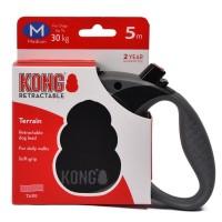 KONG рулетка Terrain M (до 30 кг) лента 5 метров черная