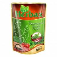 Herbax влажный корм для кошек соус Кролик с Травами 100гр