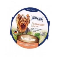 Happy Dog Natur Line влажный корм для собак телятина с рисом  нежный паштет 85 гр