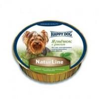 Happy Dog Natur Line влажный корм для собак ягненок с рисом  нежный паштет 85 гр