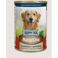 Happy Dog Natur Line консервы для собак телятина с индейкой 970 гр