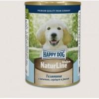 Happy Dog Natur Line консервы для собак телятина с сердцем, печенью и рубцом 970 гр