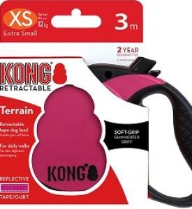 KONG рулетка Terrain XS (до 12 кг) лента 3 метров фуксия