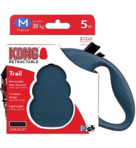 KONG рулетка Trail M (до 30 кг) лента 5 метров синяя
