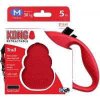 KONG рулетка Trail M (до 30 кг) лента 5 метров красный