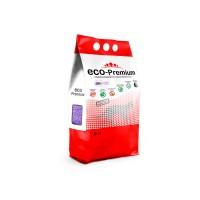 ECO Premium наполнитель для кошек древесный комкующийся Лаванда 5 л