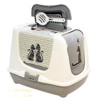 Moderna Cats in Love био-туалет 50x39x37h см с совком, серый