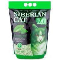 Сибирская Кошка наполнитель для кошек тофу зелёный чай 6л биоразлагаемый комкующий