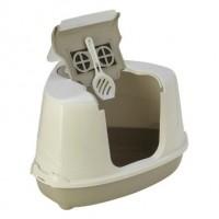 Moderna био-туалет угловой Flip Corner 55x45x38h см с совком, серый