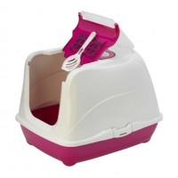 Moderna био-туалет Flip Cat 50x39x37h см с совком, розовый