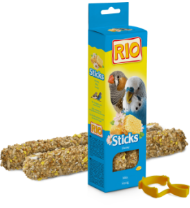 Rio колба для волнистых попугаев и экзотов с медом 2*40 гр