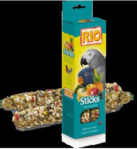 Rio колба для крупных попугаев с фруктами и ягодами 2*75 гр