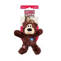 """KONG игрушка для мелких и средних собак WildKnots """"Мишка"""" плюш с канатом внутри 18 см, в ассортименте"""