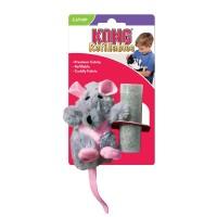"""KONG игрушка для кошек """"Крыса"""" 12 см плюш с тубом кошачьей мяты"""