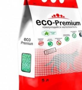 ECO Premium наполнитель для кошек  древесный  комкующийся  Алоэ, 5 л
