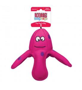 KONG игрушка для собак Belly Flops Осьминог 19х17 см