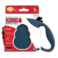 KONG рулетка Trail S (до 20 кг) лента 5 метров синий
