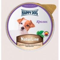 Happy Dog Natur Line влажный корм для собак кролик нежный паштет 85 гр