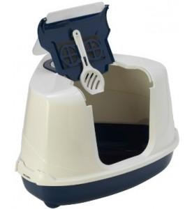 Moderna био-туалет угловой Flip Corner 55x45x38h см с совком, синий