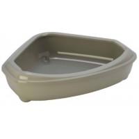 Moderna туалет-лоток угловой Corner Tray 55x45x13h см, серый