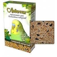 Любимчик корм для волнистых попугаев с морской капустой 500 гр.