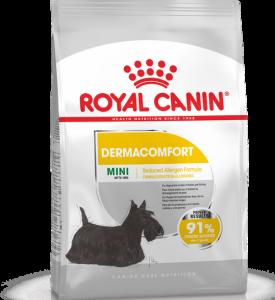 Royal Canin Mini Dermacomfort Корм для собак мелких пород с раздраженной и зудящей кожей