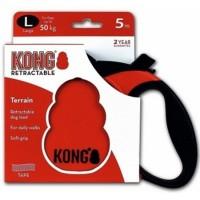 KONG рулетка Terrain L (до 50 кг) лента 5 метров (красная,синия,серая)